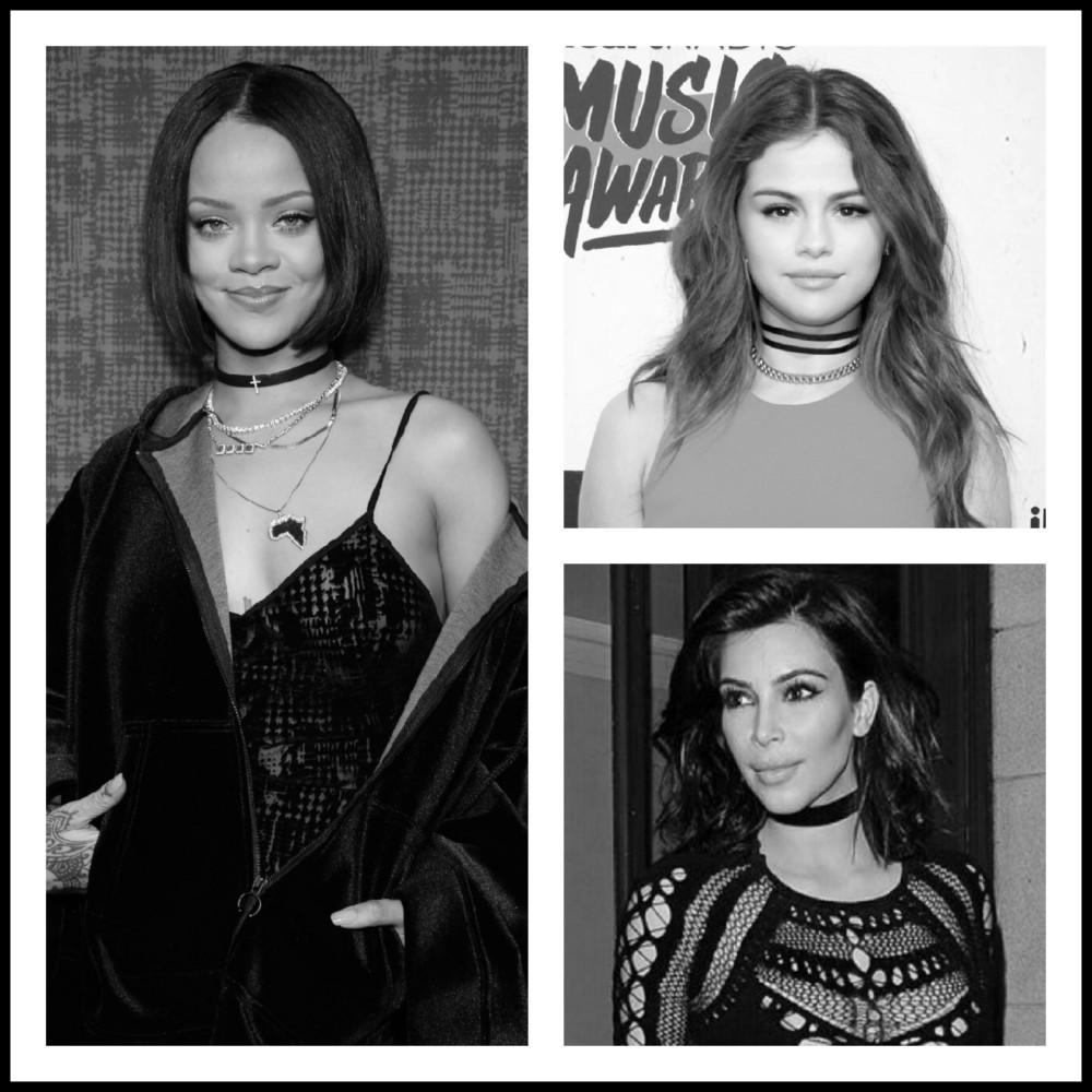 Selena Gomez Rihanna kim kardshian chocker